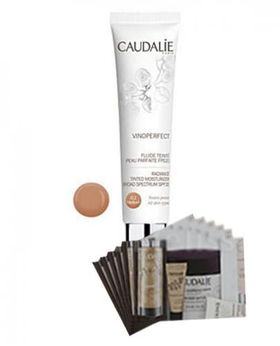 CAUDALIE VINOPERFECT Fluid tonujący SPF20 medium - 40 ml 126 + Próbki Caudalie 10 ml GRATIS !