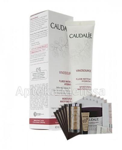 CAUDALIE VINOSOURCE Fluid matująco-nawilżający - 40 ml 110 + Próbki Caudalie 10 ml