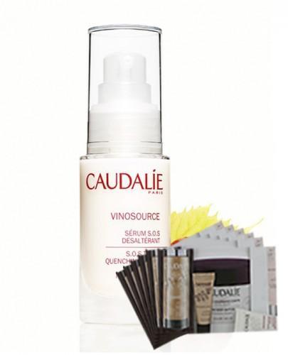 CAUDALIE VINOSOURCE Serum s.o.s. nawilżające - 30 ml + Próbki Caudalie 10 ml GRATIS !