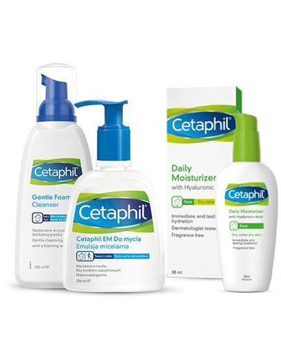 Cetaphil Lekka Pianka do mycia - 236 ml + CETAPHIL MD DERMOPROTEKTOR Balsam nawilżający z pompką - 236 ml
