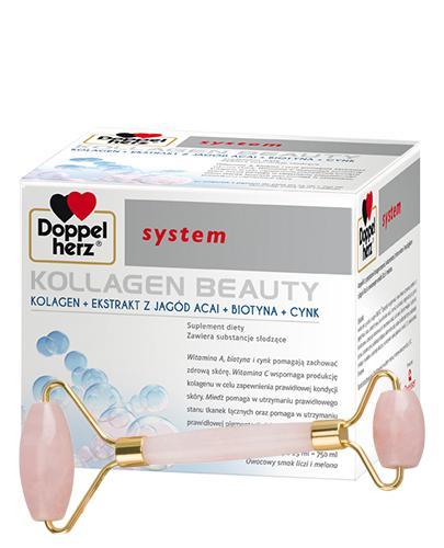DOPPELHERZ SYSTEM Kollagen Beauty - do pielęgnacji skóry - 30 amp. + Opaska do makijażu - Apteka internetowa Melissa