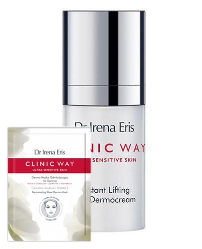 Dr Irena Eris Clinic Way Dermokrem pod oczy intensywnie liftingujący 3°+ 4° - 15 ml + DR IRENA ERIS CLINIC WAY Dermo-maska odmładzająca na tkaninie - 1 szt - Apteka internetowa Melissa