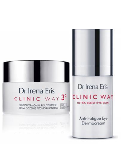 DR IRENA ERIS CLINIC WAY Odmłodzenie fitohormonalne 3° 50+ na dzień - 50 ml + Dermokapsułki - 5 szt. + Kosmetyczka  - Apteka internetowa Melissa