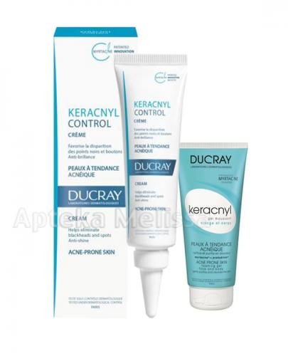 DUCRAY KERACNYL CONTROL Krem - 30 ml + KERANCYL Żel do twarzy i ciała - 40 ml  - Apteka internetowa Melissa