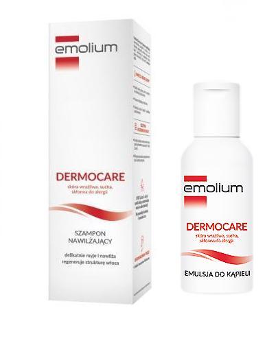 EMOLIUM DERMOCARE Szampon nawilżający - 200 ml + Emolium dermocare emulsja do kąpieli - 50 ml  - Apteka internetowa Melissa