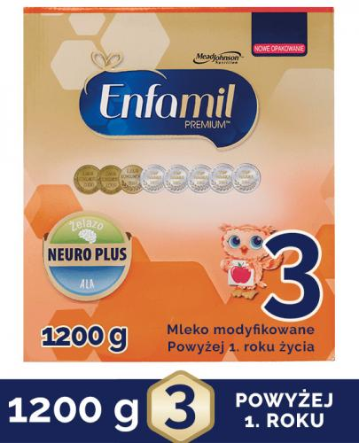 ENFAMIL 3 PREMIUM powyżej 1 roku Mleko modyfikowane - 1200g  + Przytulanka sensoryczna GRATIS !