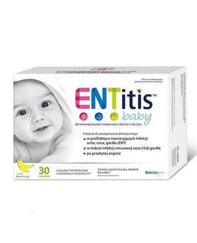 ENTITIS BABY - preparat przeciwinfekcyjny - 30 sasz. - cena, opinie, dawkowanie