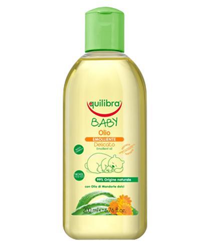 EQUILIBRA BABY Naturalna oliwka pielęgnacyjna 0m+ - 200 ml + EQUILIBRA BABY Delikatne chusteczki - 20 szt. GRATIS !