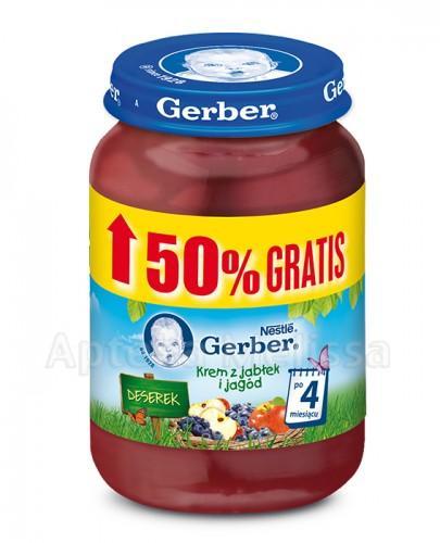 GERBER DESEREK Krem z jabłek i jagód po 4 miesiącu - 125 g + 50 % GRATIS !