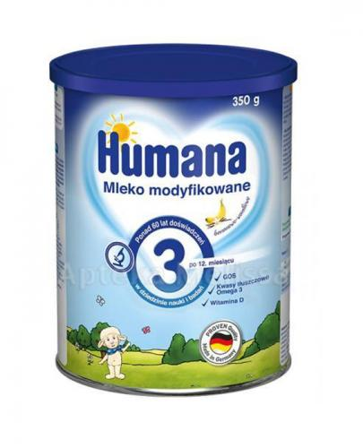 HUMANA 3 Mleko modyfikowane w proszku następne bananowo-waniliowe - 350 g Data ważności: 2018.01.03 - Apteka internetowa Melissa