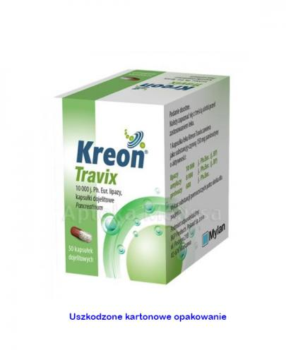 KREON TRAVIX 10000 j. - 50 kaps. ( bez kartonowego opakowania )  - Apteka internetowa Melissa