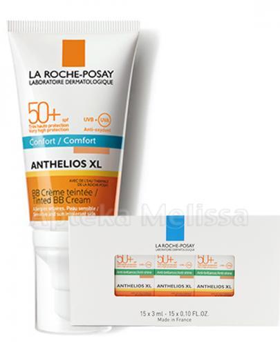 LA ROCHE-POSAY ANTHELIOS XL BB Krem barwiący do twarzy SPF50+ - 50 ml + LA ROCHE ANTHELIOS XL Żel-krem mini-produkt 15x3 ml GRATIS ! - Apteka internetowa Melissa