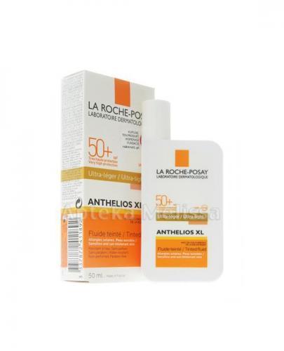 LA ROCHE-POSAY ANTHELIOS XL Ultralekki fluid barwiący do twarzy SPF50+ - 50 ml + LA ROCHE ANTHELIOS XL Żel-krem  mini-produkt 15x3 ml GRATIS !  - Apteka internetowa Melissa