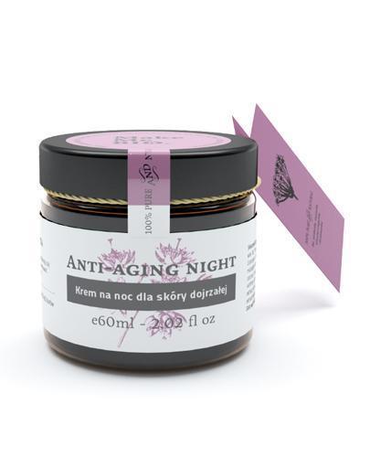 MAKE ME BIO ANTI-AGING NIGHT Krem na noc dla skóry dojrzałej - 60 ml + MAKE ME BIO Woda różana - 100 ml - Apteka internetowa Melissa