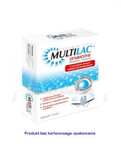MULTILAC Synbiotyk - 10 kaps. probiotyk i prebiotyk Data ważności 2020.11.30 - Apteka internetowa Melissa