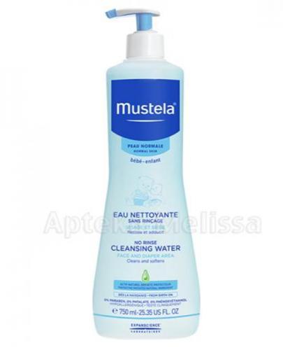 MUSTELA BEBE ENFANT Woda oczyszczająca - 750 ml  + Prezent Lansinoh woreczki do pokarmu - 2 szt - Apteka internetowa Melissa