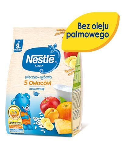 NESTLE Kaszka mleczno-ryżowa 5 owoców, po 9 miesiącu - 230 g + BOBO FRUT Sok pomidor, winogrona i marchew po 6 m-cu - 300 ml GRATIS ! - Apteka internetowa Melissa