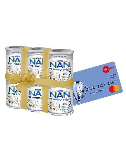 NESTLE NAN OPTIPRO PLUS 3 Mleko modyfikowane w proszku po 1 roku  - 6 x 800 g (puszka)