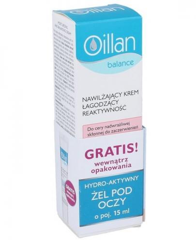 OILLAN BALANCE Nawilżający krem łagodzący reaktywność - 40 ml + OILLAN Hydro-aktywny żel pod oczy - 15 ml - Apteka internetowa Melissa