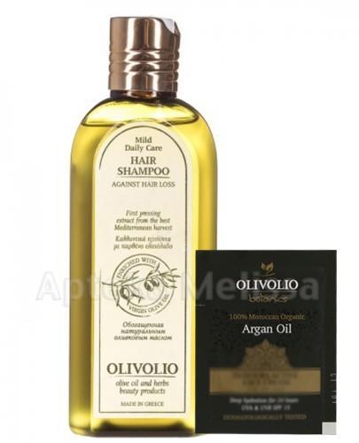 OLIVOLIO Szampon przeciw wypadaniu włosów z organiczną oliwą z oliwek - 200 ml  + Próbka Olivolio Krem - 3 ml GRATIS !