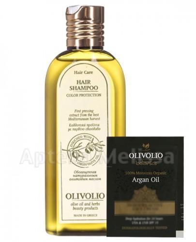 OLIVOLIO Szampon do włosów farbowanych z proteinami z oliwą z oliwek - 200 ml  + Próbka Olivolio Krem - 3 ml GRATIS !