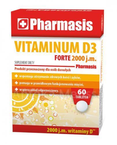 PHARMASIS Vitaminum D3 Forte 2000 j.m. - 60 tabl. Data ważności: 2019.02.28 - Apteka internetowa Melissa