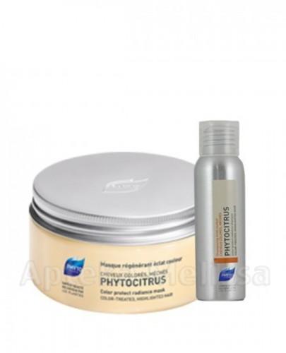 PHYTO PHYTOCITRUS Regenerująca maska chroniąca i rozświetlająca kolor - 200 ml + Phytocitrus szampon rozświetlający 50 ml GRATIS !