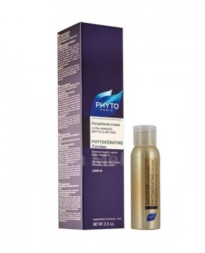 PHYTO PHYTOKERATINE EXTREME Keratynowy krem odbudowujący - 100 ml + Phytokeratine Extreme szampon 50 ml GRATIS !