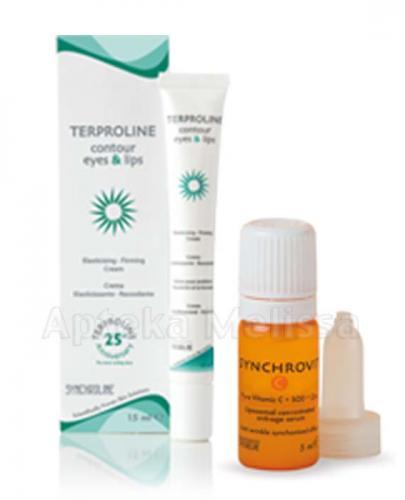 SYNCHROLINE TERPROLINE Krem do skóry okolic oczu i ust - 15 ml  + SYNCHROLINE SYNCHROVIT C Serum - 5 ml - Apteka internetowa Melissa