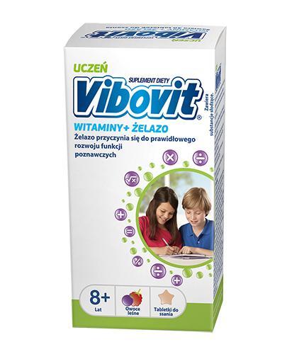 VIBOVIT UCZEŃ Witaminy + żelazo - 30 tabl. + Kubek GRATIS !  - Apteka internetowa Melissa