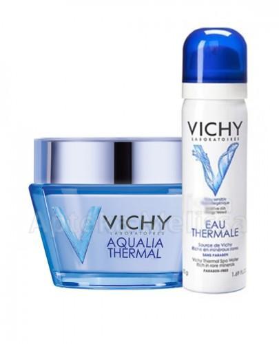 VICHY AQUALIA THERMAL Dynamicznie nawilżający krem dla skóry wrażliwej bogata konsystencja - 50 ml + EAU THERMALE Woda termalna - 50 ml GRATIS !