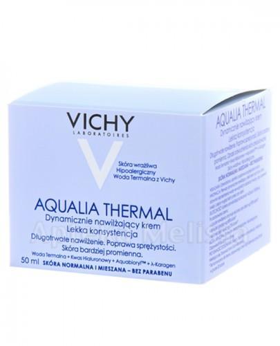 VICHY AQUALIA THERMAL Dynamicznie nawilżający krem dla skóry wrażliwej lekka konsystencja - 50 ml + EAU THERMALE Woda termalna - 50 ml GRATIS !