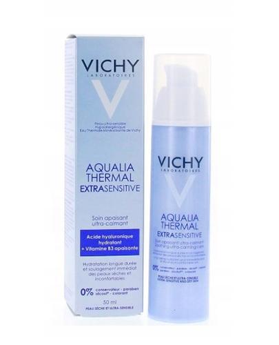 VICHY AQUALIA THERMAL EXTRASENSITIVE Krem do skóry wrażliwej - 50 ml + Vichy Idealia - 10 x 1,5 ml  - Apteka internetowa Melissa