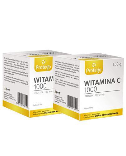 PROTEGO WITAMINA C 1000 j.m. czysta witamina C - 2 x 150 g - Apteka internetowa Melissa