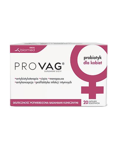 PROVAG - 20 kaps. Probiotyk ginekologiczny - cena, opinie, właściwości - Apteka internetowa Melissa