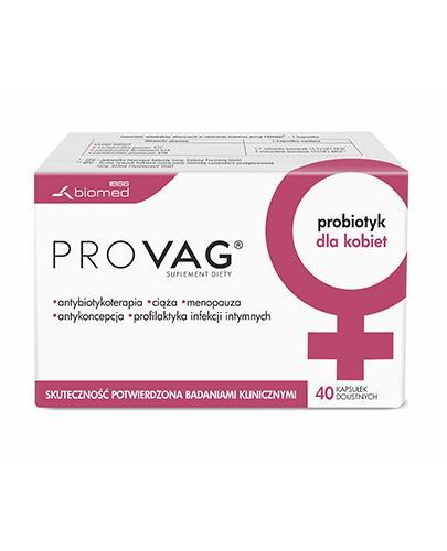 PROVAG - 40 kaps. Dla dobudowy mikroflory bakteryjnej - cena, opinie, wskazania