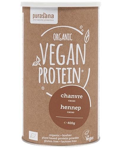 Purasana Białko konopne o smaku kakaowym bezglutenowe Bio - 400 g - cena, opinie, skład - Drogeria Melissa