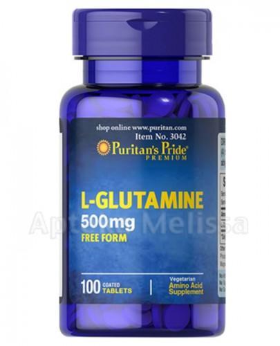PURITAN`S PRIDE L-GLUTAMINE 500mg - 100 tabl. - Apteka internetowa Melissa