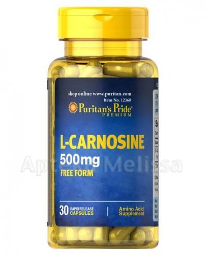 PURITAN'S PRIDE L-Karnozyna 500 mg - 30 kaps. - Apteka internetowa Melissa