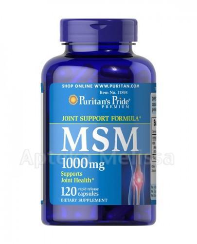 PURITAN'S PRIDE MSM 1000 mg - 120 kaps. (PURITANS PRIDE) - Apteka internetowa Melissa