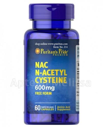 PURITAN'S PRIDE NAC N-Acetylo Cysteina 600 mg - 60 kaps. (PURITANS PRIDE) - Apteka internetowa Melissa
