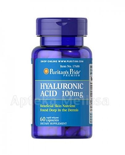 PURITAN'S PRIDE KWAS HIALURONOWY 100 mg - 60 kaps. - Apteka internetowa Melissa