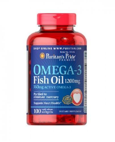 PURITAN'S PRIDE OMEGA 3 1200 mg - 100 kaps. - Apteka internetowa Melissa