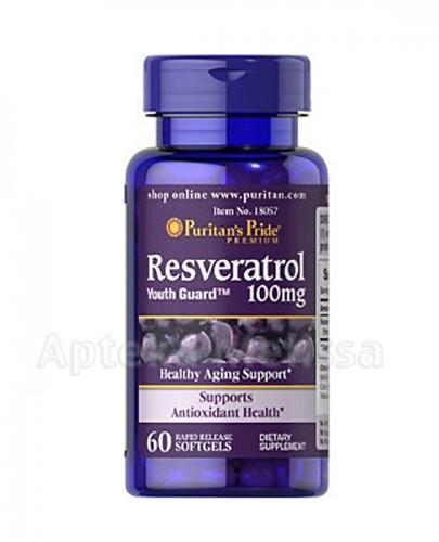 PURITAN'S PRIDE RESVERATROL 100 mg - 60 kaps. (PURITANS PRIDE) - Apteka internetowa Melissa