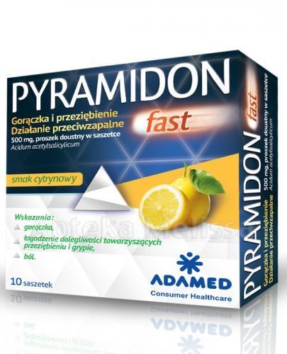 PYRAMIDON FAST na przeziębieniu i grypie - 10 sasz.  - Apteka internetowa Melissa