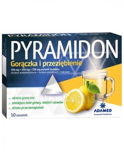 PYRAMIDON Gorączka i przeziębienie - 10 sasz.  - Apteka internetowa Melissa