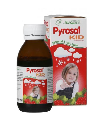 PYROSAL KID Syrop od 3 roku życia - 100 ml - wspomaga odporność - cena, stosowanie, opinie  - Drogeria Melissa