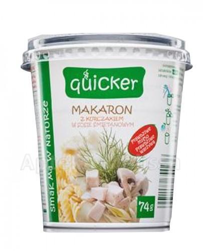 QUICKER Makaron z kurczakiem w sosie śmietanowym - 74 g - Apteka internetowa Melissa