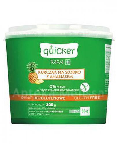 QUICKER RACJA+ Kurczak na słodko z ananasem danie bezglutenowe - 96 g - Apteka internetowa Melissa
