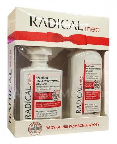 IDEEPHARM RADICAL MED ZESTAW Szampon przeciw wypadaniu włosów - 300 ml + Odżywka przeciw wypadaniu włosów - 200 ml  ( bez kartonowego opakowania )  - Apteka internetowa Melissa